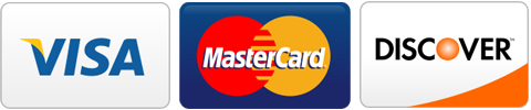 We accept Visa, MasterCard, and Discover